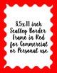 Scallop Border Frames, 12 digital border frames, size 8.5x