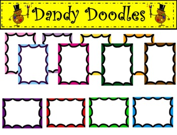 Scallop Borders Clip Art by Dandy Doodles