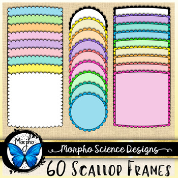 Scallop Frames {Mega Pack} Commercial Use Borders - Great