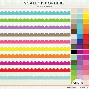 Scalloped Clip Art Borders
