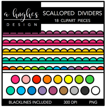 Scalloped Dividers {Graphics for Commercial Use}
