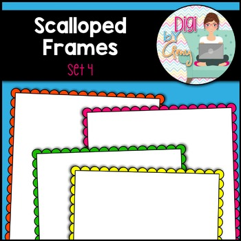 Scalloped Frames clipart - Set 4