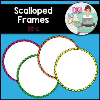Scalloped Frames clipart - Set 6 (circle)