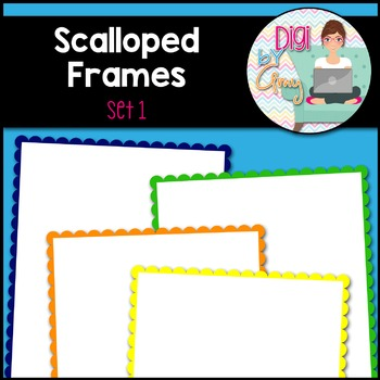 Scalloped Frames and Borders clipart - Set 1