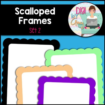 Scalloped Frames and Borders clipart - Set 2