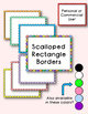 Scalloped Rectangle Frames - Personal & Commercial Use, 14 colors