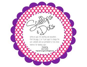 Scallops & Dots