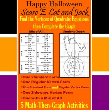 Scare E. Cat and Jack - Finding Vertices - 4 Math-Then-Gra
