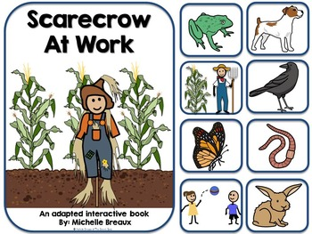 Scarecrow At Work- Adapted Interactive Fall Book {Autism,