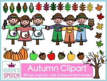 Scarecrow {Autumn} Clipart