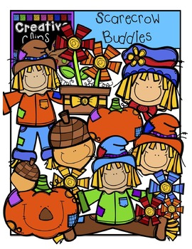 Scarecrow Buddies  {Creative Clips Digital Clipart}