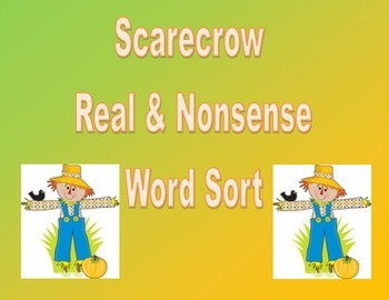 Scarecrow Fall Real and Nonsense Words