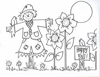 Scarecrow Garden...Happy Fall!