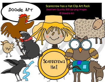 Scarecrow Has a Hat Clipart Pack