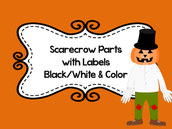 Scarecrow Parts with Labels
