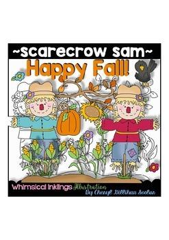 Scarecrow Sam Autumn Clipart Collection
