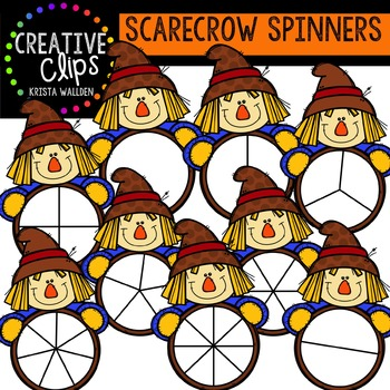 Scarecrow Spinners {Creative Clips Digital Clipart}