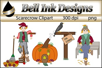 Scarecrow and Fall Clipart