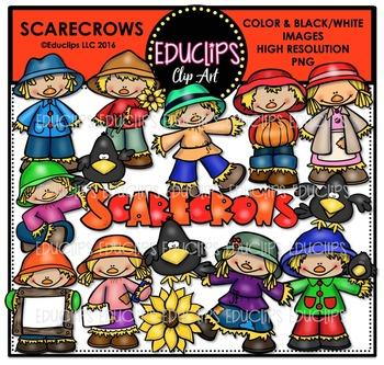 Scarecrows Clip Art Bundle