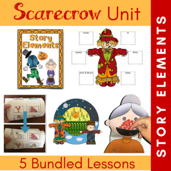 Scarecrows and Story Elements {K-3 Classroom and Library Lessons}