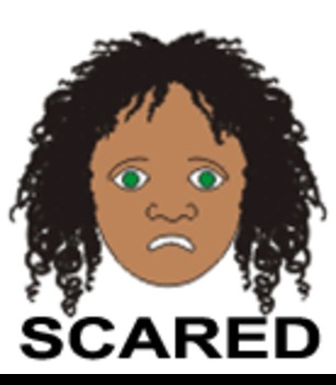 Scared - One of 9 Faces of Emotions for Emotional Intellig