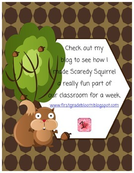 Scaredy Squirrel Art & Writing Project