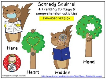 Scaredy Squirrel Higher order thinking reading comprehensi