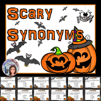 Scary Synonyms Task Cards