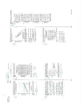 Scatter Plot Quiz with Multiple Choice and Fill in the Bla