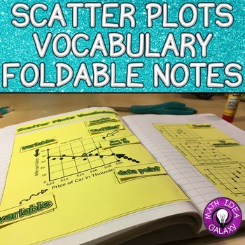 Scatter Plots Vocabulary Foldable Notes for Interactive Notebook