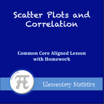 Scatter Plots and Correlation (Lesson with Homework)