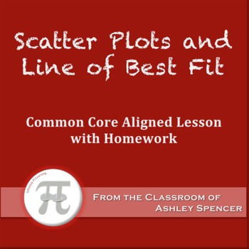 Scatter Plots and Line of Best Fit (Lesson Plan with Homework)