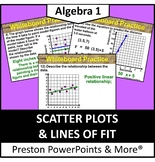 (Alg 1) Scatter Plots and Lines of Fit in a PowerPoint Pre
