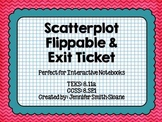 Scatterplot Flippable (foldable) and Exit Ticket - Interac