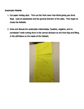 Interactive Notebook:  Scatterplot Relationships Foldable