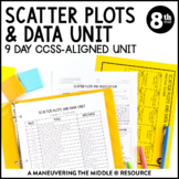 8th Grade Scatter Plots and Data Unit: 8.SP.1, 8.SP.2, 8.S