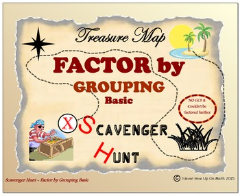 Scavenger Hunt {School/Home/Stations} - Factor by Grouping