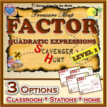 Scavenger Hunt {School/Home/Stations} - Factoring Quadrati