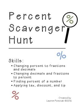 Scavenger Hunt: Percents