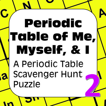 All About Me Periodic Table Scavenger Hunt: Periodic Table