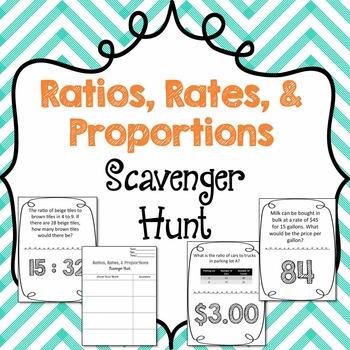Scavenger Hunt: Ratios, Rates, & Proportions