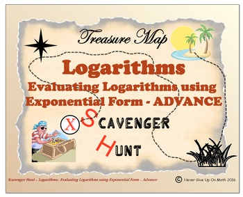 Scavenger Hunt {School/Home/Stations} - Evaluate Logarithm