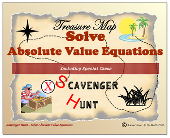 Scavenger Hunt {School/Home/Stations}- Solve Absolute Valu