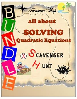 Scavenger Hunt {School/Home/Stations} BUNDLE-SOLVING QUADR