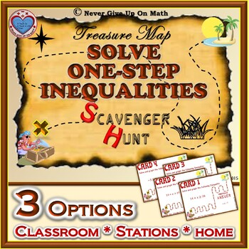 Scavenger Hunt - Solving One-Step Linear Inequalities