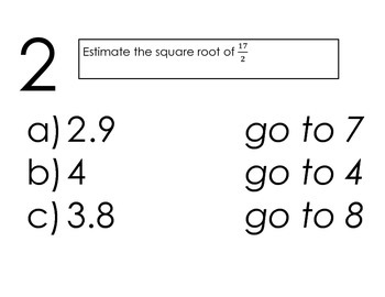 Scavenger Hunt Squares and Square Roots