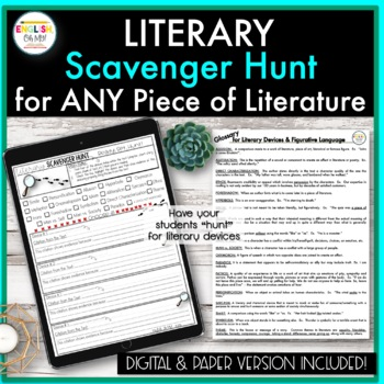 Scavenger Hunt for ANY Piece of Literature!