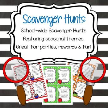 Scavenger Hunts - Seasonal and School-Wide