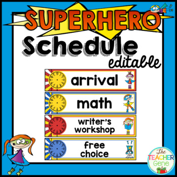 Super Hero Schedule