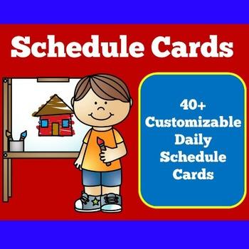 Daily Schedule Cards | Schedule Cards | Class Schedule | S